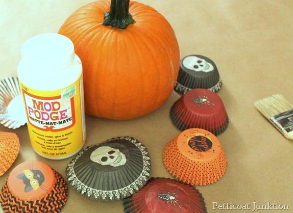 pumpkin decoupage project