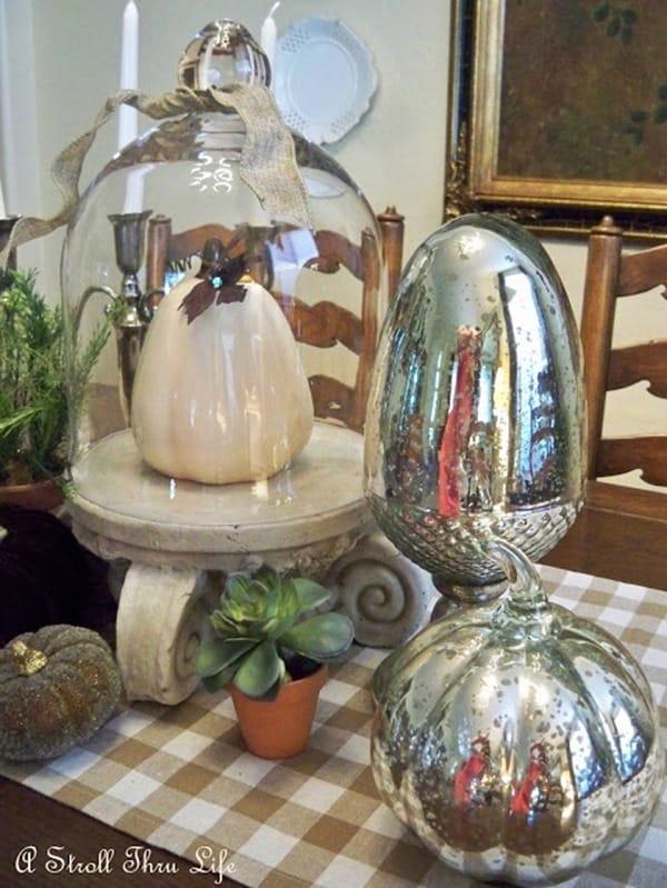 pumpkins mercury glass a stroll thru life