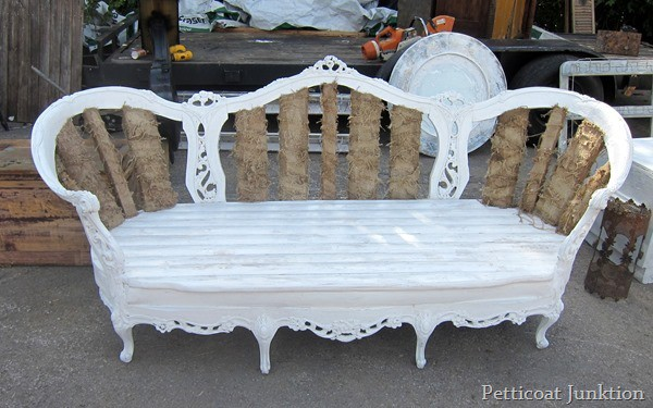 white vintage settee Nashville Flea Market