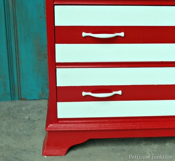 white striped furniture