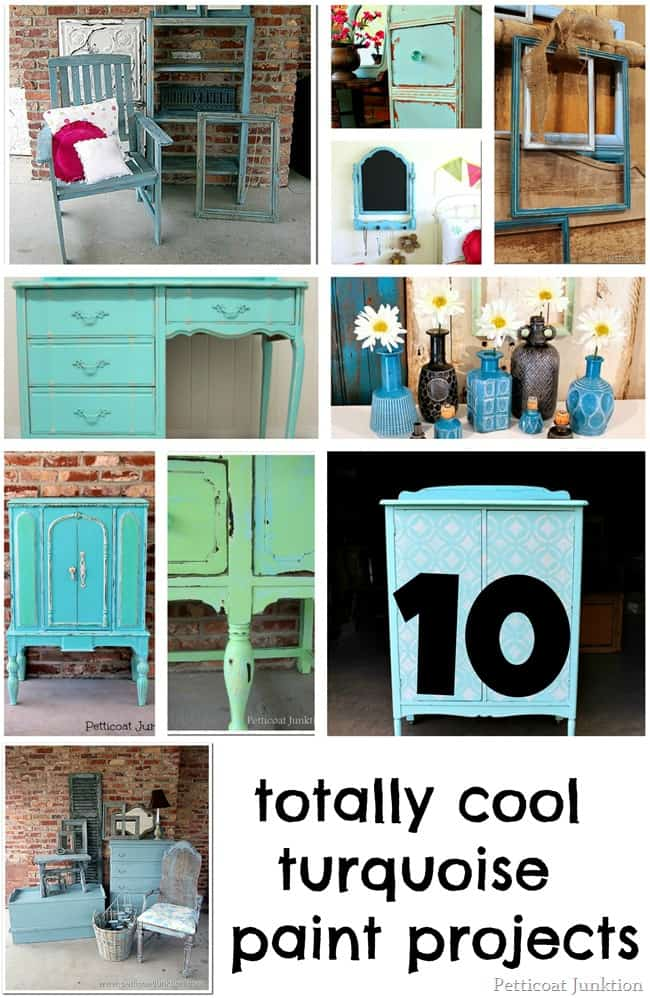 Totally Cool Nails Book Review: 10 TOTALLY COOL TURQUOISE PAINT PROJECTS-Petticoat Junktion