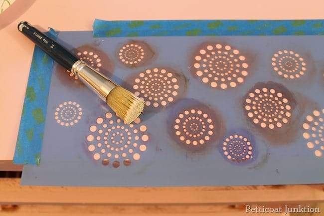 how to stencil damaged furniture