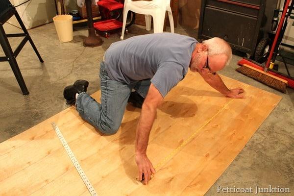 measure underlaymet for drawer repair