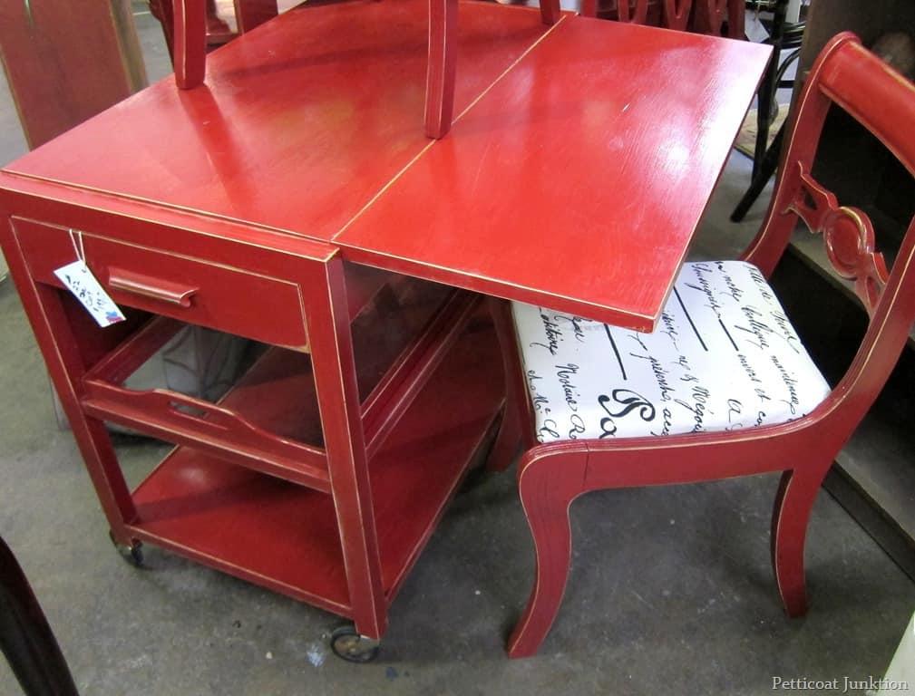Elegant red furniture