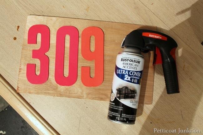 spray painting numbers