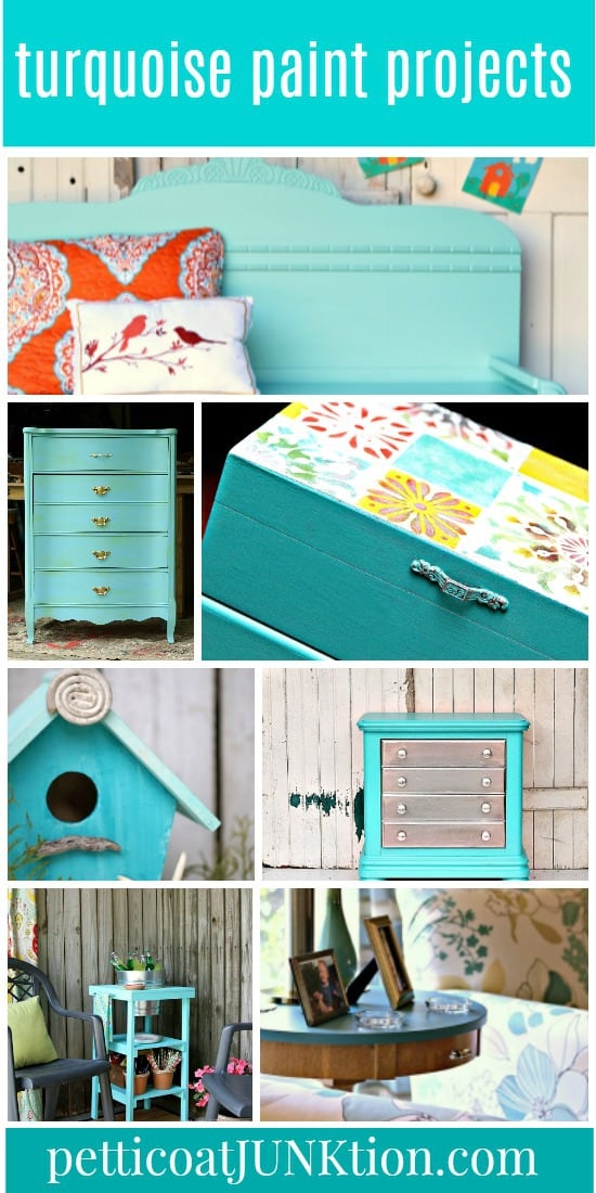 turquoise paint projects from Petticoat Junktion