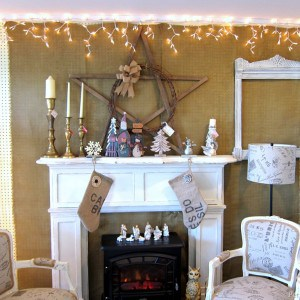 Christmas At The Shop – Burlap and White Decor