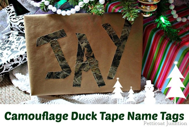 camouflage duck tape name tags