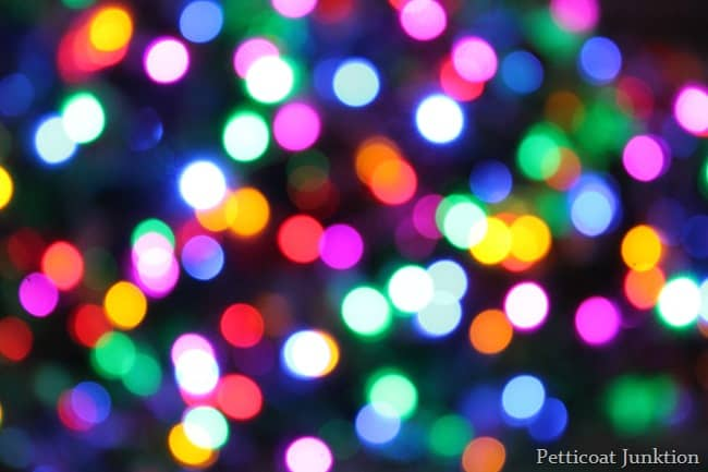 christmas tree lights special photograpy affect