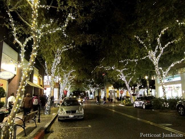 lights Santana Row