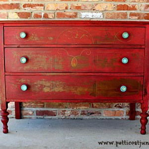 mmsmp tricycle red and turquoise knobs Petticoat Junktion