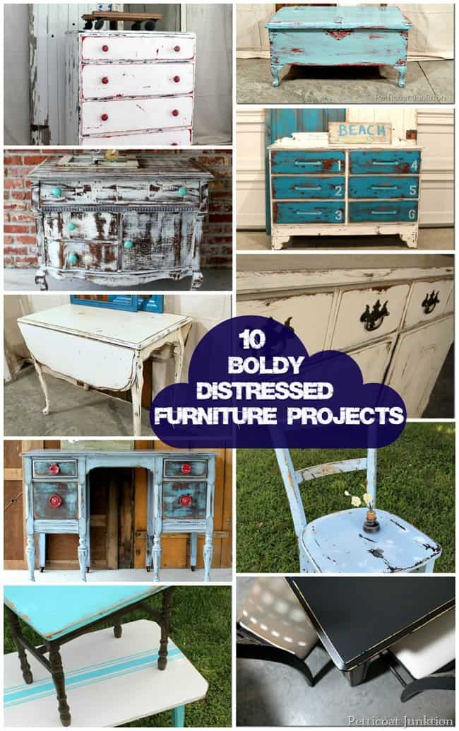 DIY Furniture Makeovers. 10 Boldly Distressed Furniture Projects