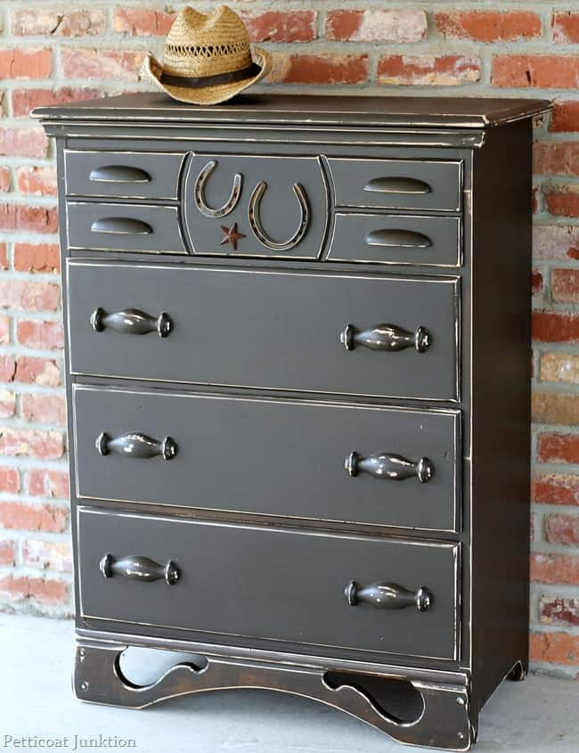 Cowboy chest themed furniture makeover petticoat junktion