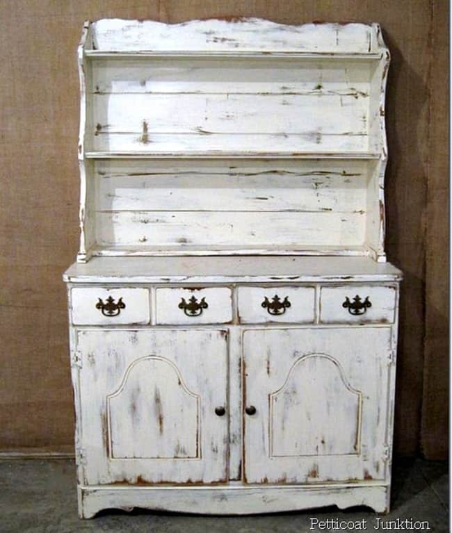 Distressed White Hutch Petticoat Junktion