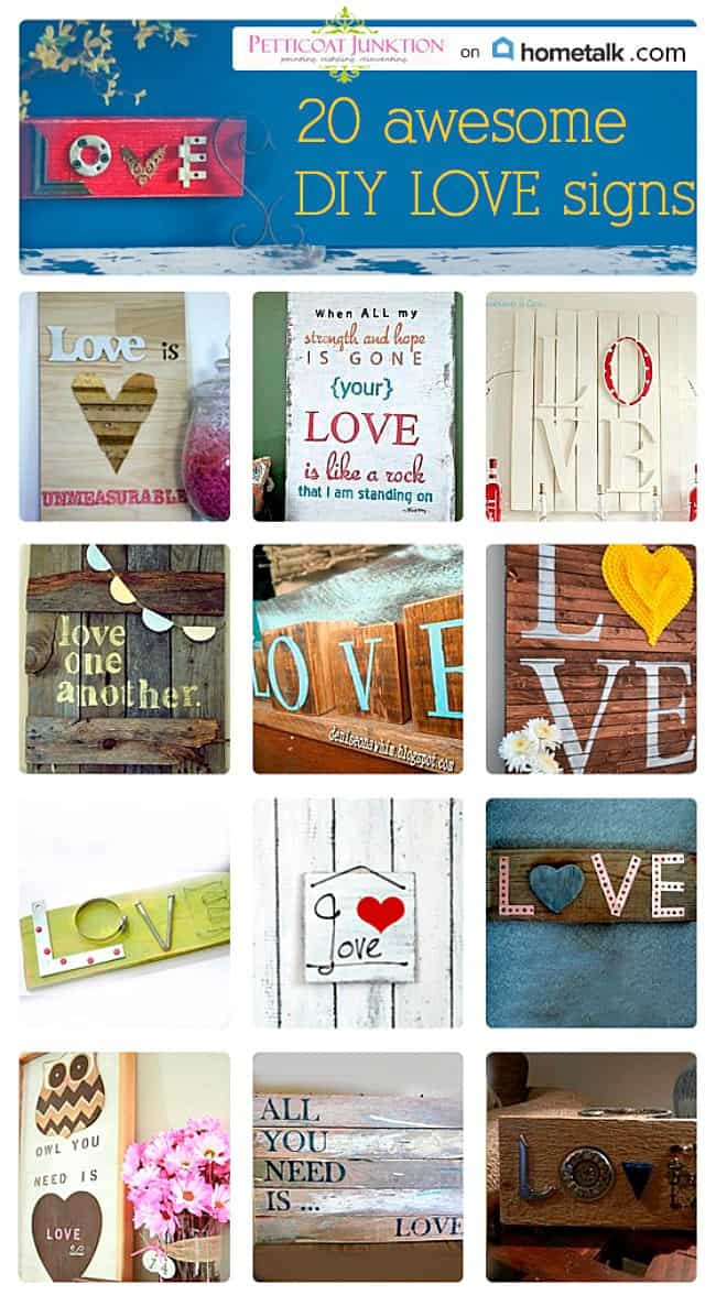 Hometalk Love Sign Graphic Petticoat Junktion Clipboard