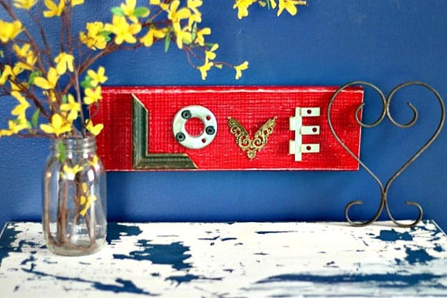 a reclaimed hardware and wood valentine love sign petticoat junktion