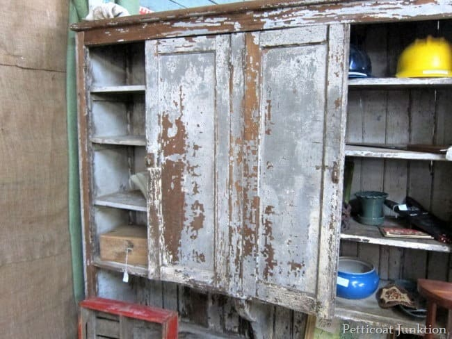 antique cupboard with chippy paint junk shopping with petticoat junktion
