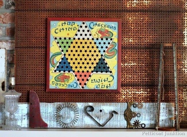 assemblage art junk love sign petticoat junktion