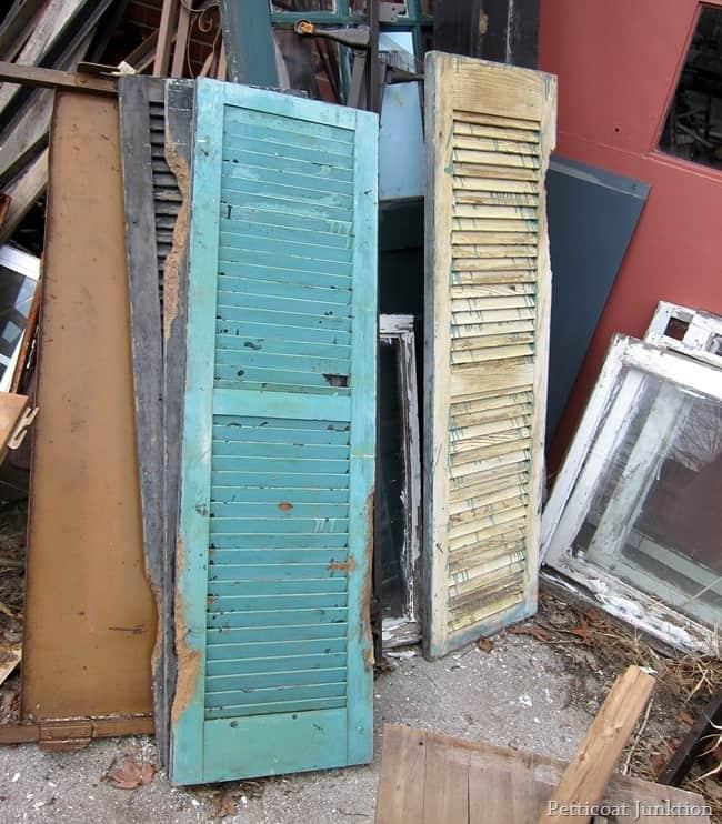 blue wood shutters