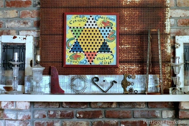 junk assemblage art love sign petticoat junktion
