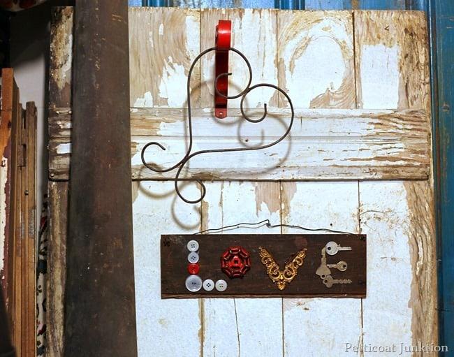 junk finds love sign petticoat junktion