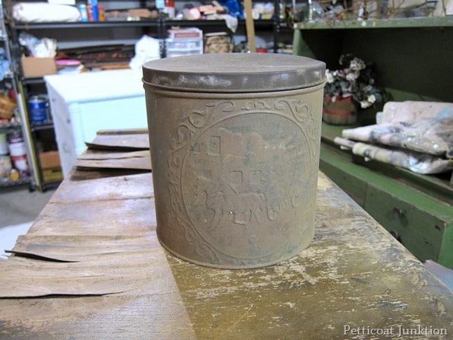 rusty tin
