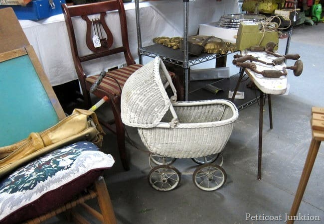 vintage baby doll carriage junk shopping petticoat junktion
