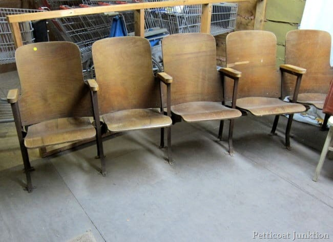 vintage theater seats junk shopping petticoat junktion