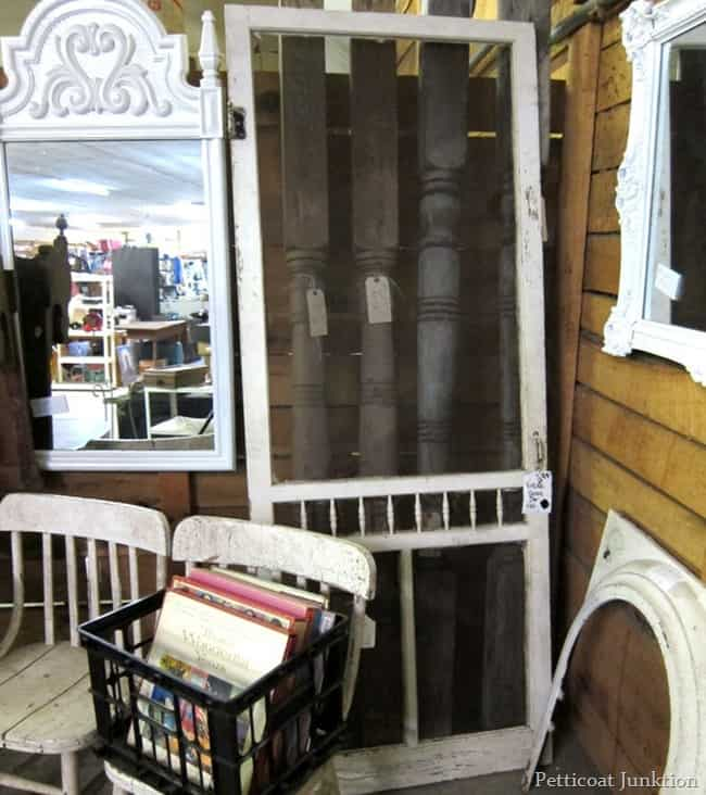 white screen door junk shopping petticoat junktion