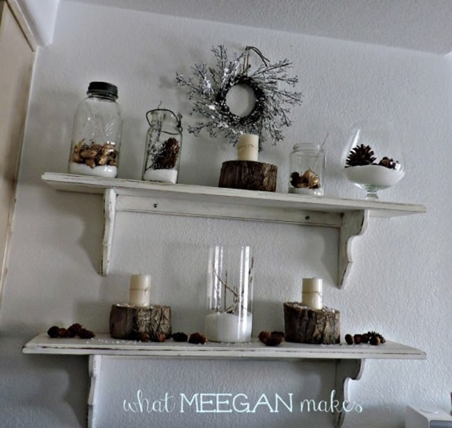 white winter shelves by megan makes
