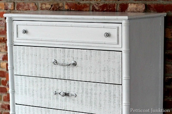 wicker chest makeover petticoat junktion