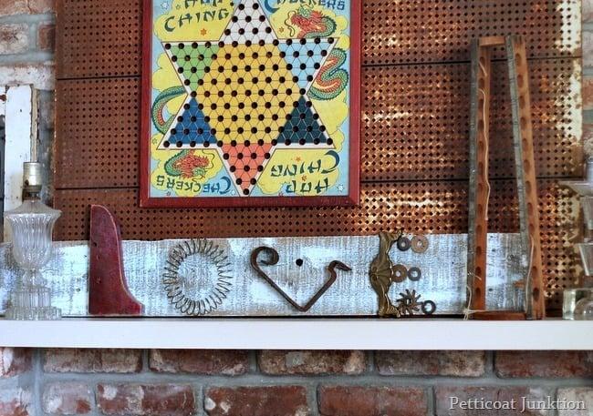 wood love sign assemblage junk art petticoat junktion