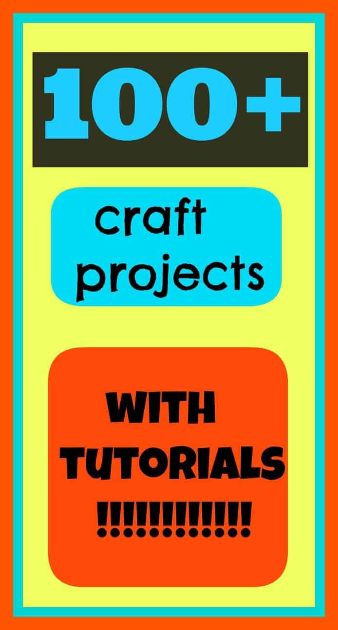 100 craft tutorials graphic