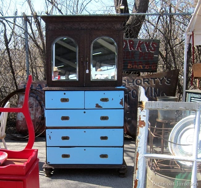 blue two tone furniture nashville flea market