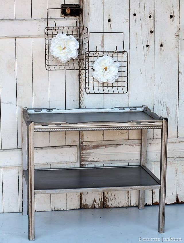 Best Antiquing Process For Metallic Silver Furniture
