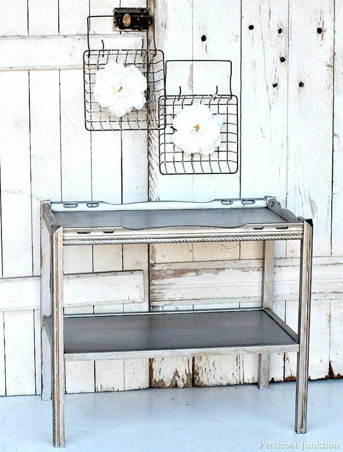 metallic furniture antiquing tutorial