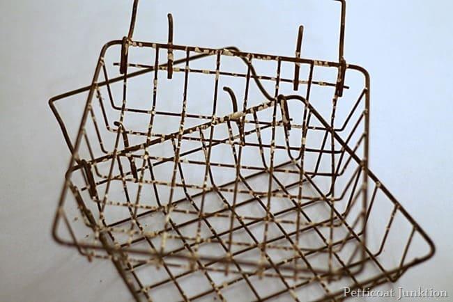 rusty junk baskets