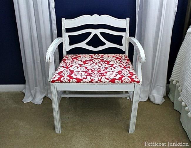 soft and feminine vintage vanity chair