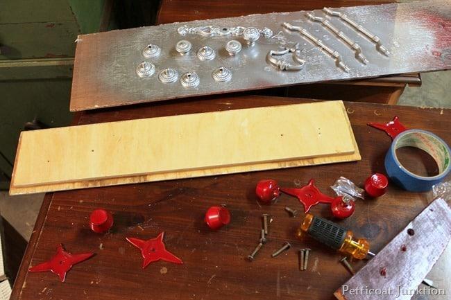 spray painting hardware