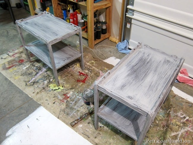 tables with coat of primer