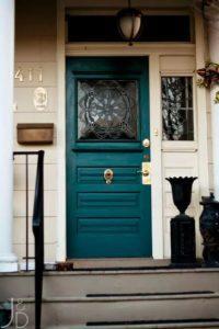 teal front door color