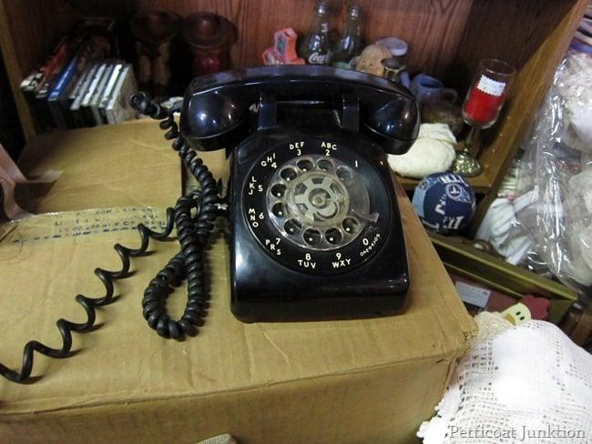 vintage black rotary dial phone
