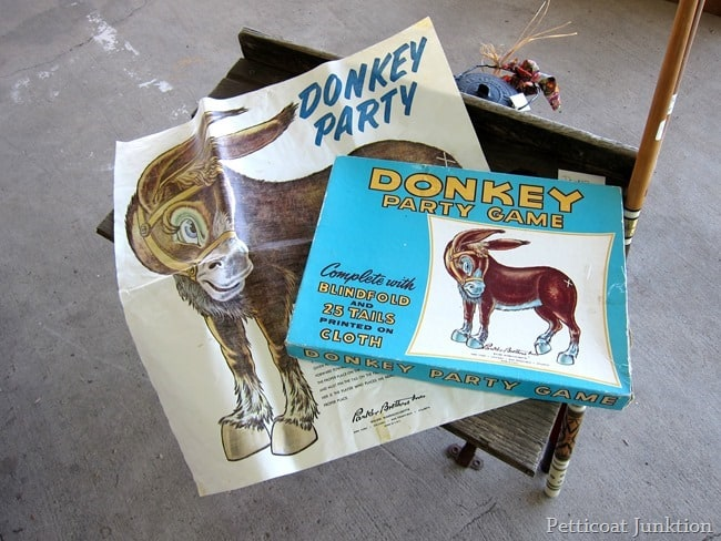 vintage pin the tail on the donkey nashville flea market