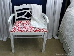 Vintage Vanity Chair Rocks It In Red