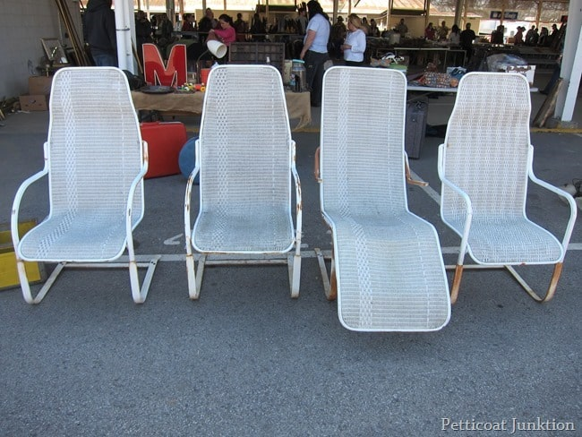white pool chairs nashville flea market