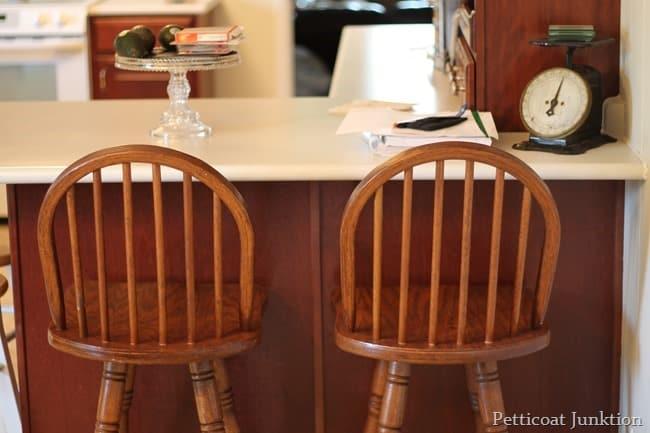wood bar stools before
