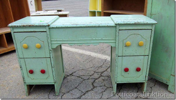 Nashville Flea Market Furniture Finds, painted desk