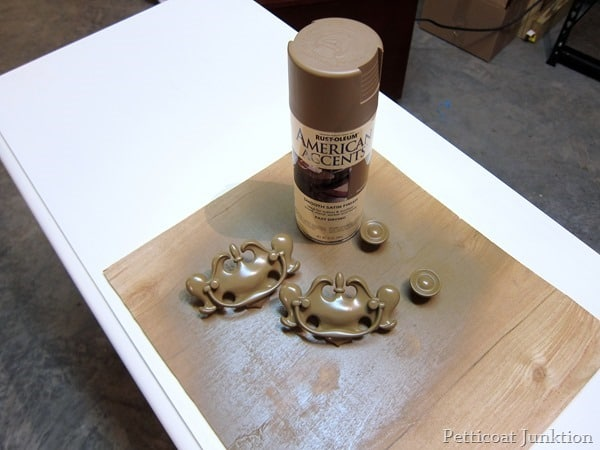 Rust-Oleum spray paint for hardware petticoat junktion