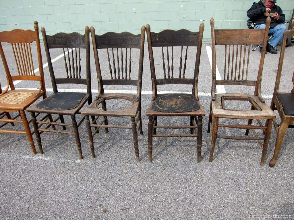 Old Wood Chairs ~ Count the chairs nashville flea market petticoat junktion