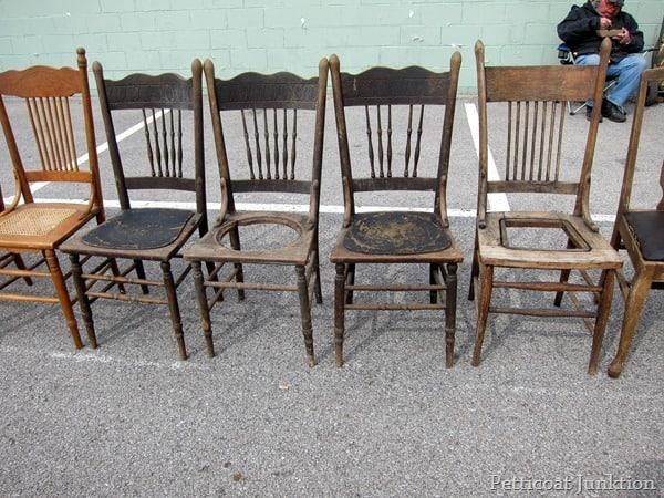 Antique Wood Chairs Nashville Flea Market Petticoat Junktion
